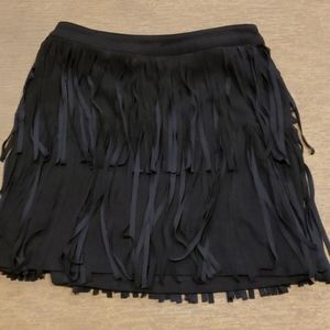 h & m suede like skirt size 6